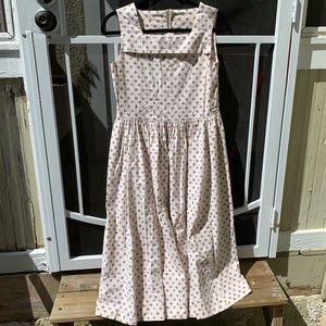Vintage 80s Lauren Ashley Floral Dress